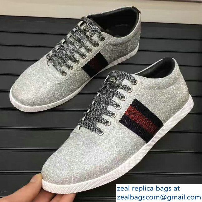 Gucci Glitter Web Men\\'s Sneaker With