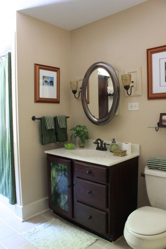 Small Bathroom Decorating Ideas Bathroom Small Bathroom Ideas On A Budget With A Green Fra Small Bathroom Decor Small Bathroom Ideas On A Budget Bathroom Decor