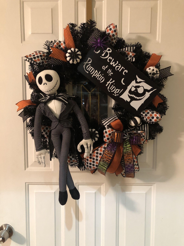 Jack Halloween Wreath, pumpkin king Halloween, Wreaths