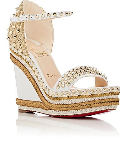 7bcefa4c1f Christian Louboutin Madmonica Leather Wedge Espadrille Sandals - Heels -  504841613