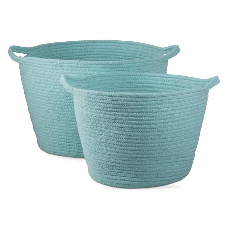 Cross Stitch Cord Basket Set of 2 | Cord and Products