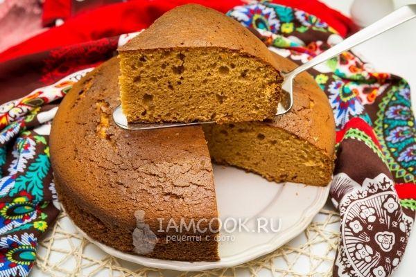 Рецепт карамельного бисквита