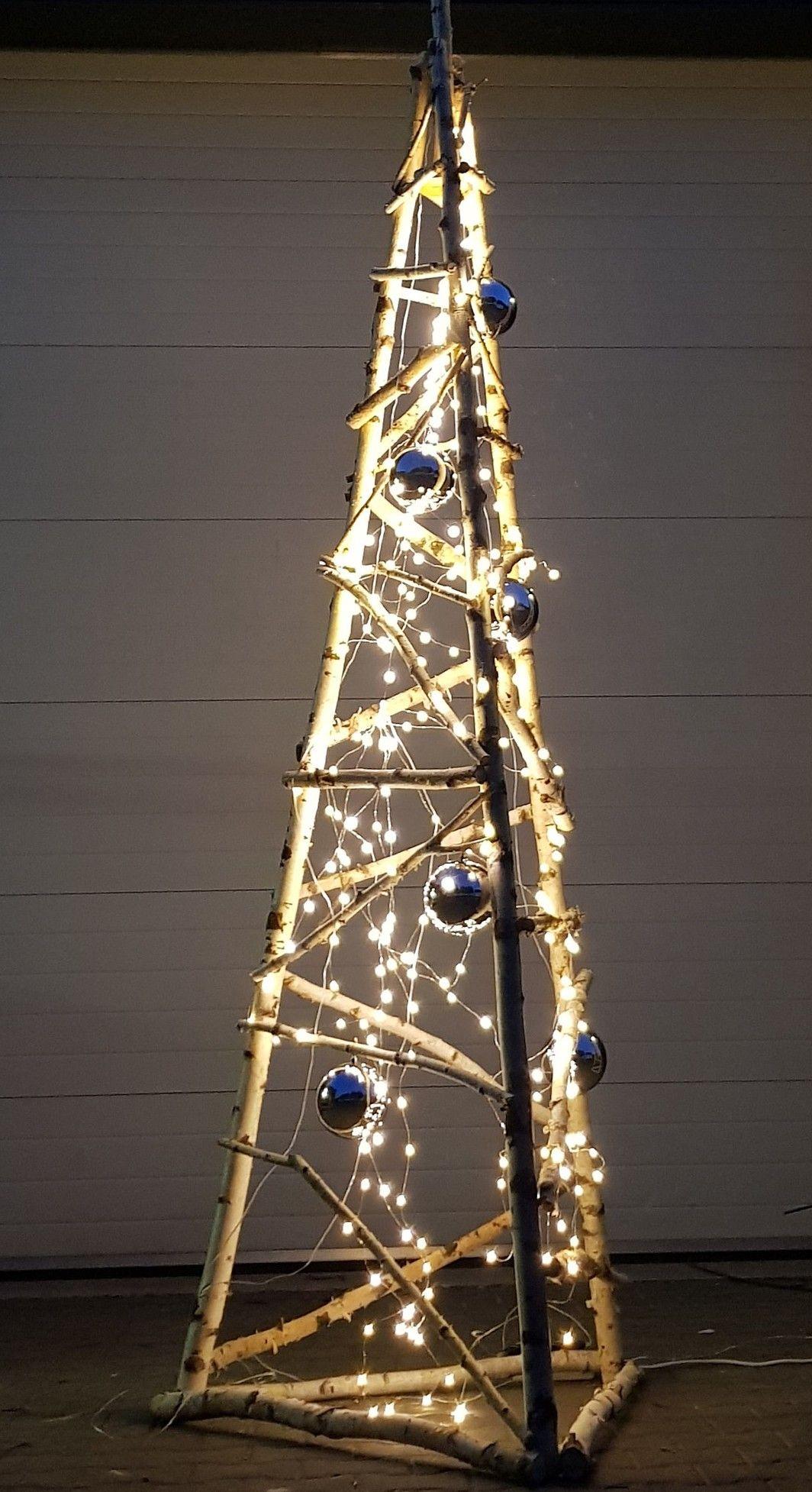 3d Kerstboom Berk 150cm Zelfgemaakte Kerstboom Buiten Kerstversiering Kerst