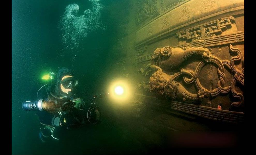 Once Majestic Cities That Sank Beneath The Ocean Underwater City Qiandao Lake Underwater Ruins