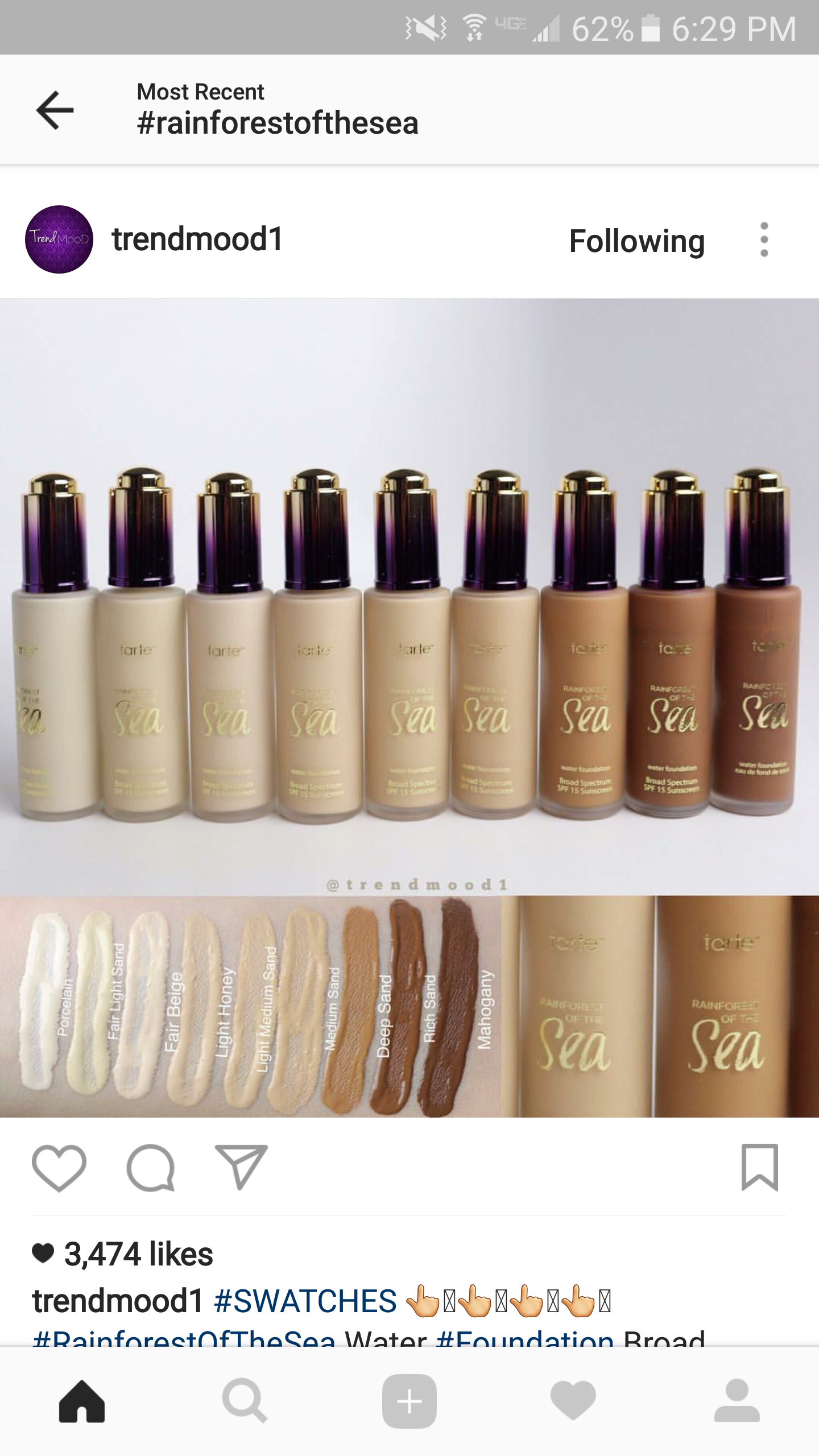 Tarte Has 9 New Shades In Rainforest Of The Sea Foundation
