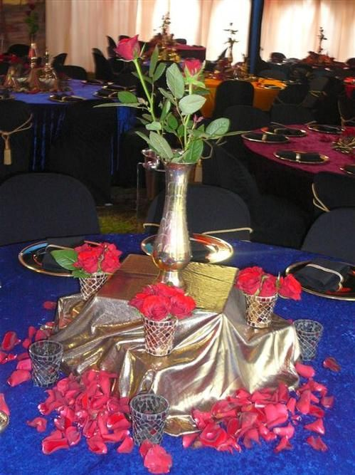 Arabian Nights Sweet 16 Centerpieces