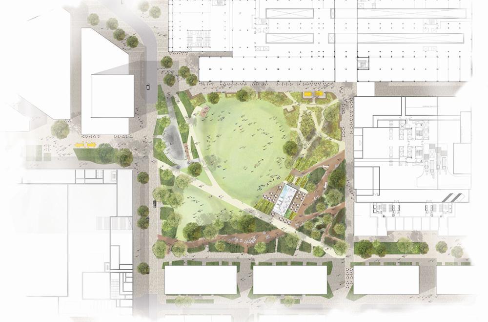 Townshend La Canada Water Masterplan In 2021 Water Architecture Garden Planning Luxury Garden