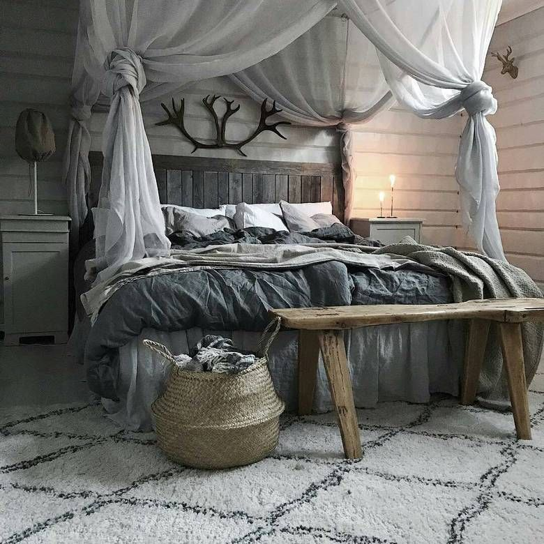 65 Charming Rustic Bedroom Ideas and Designs images