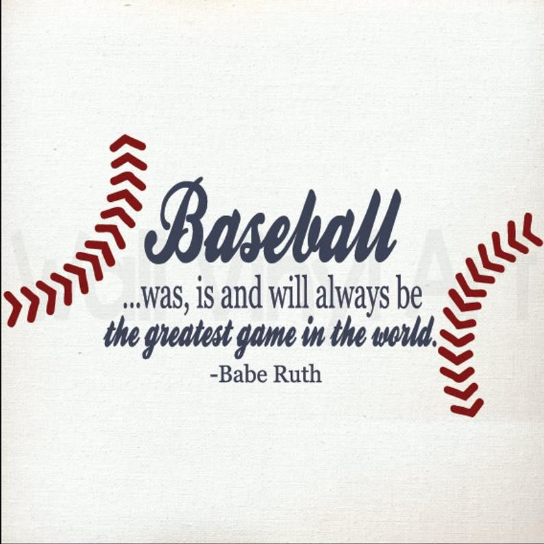 Photo of Babe Ruth/Baseball Quote/ Vinyl Decal/ Sports Decal/Sports Decor/Sports Wall Decal/Nursery Decal/Baseball Decal