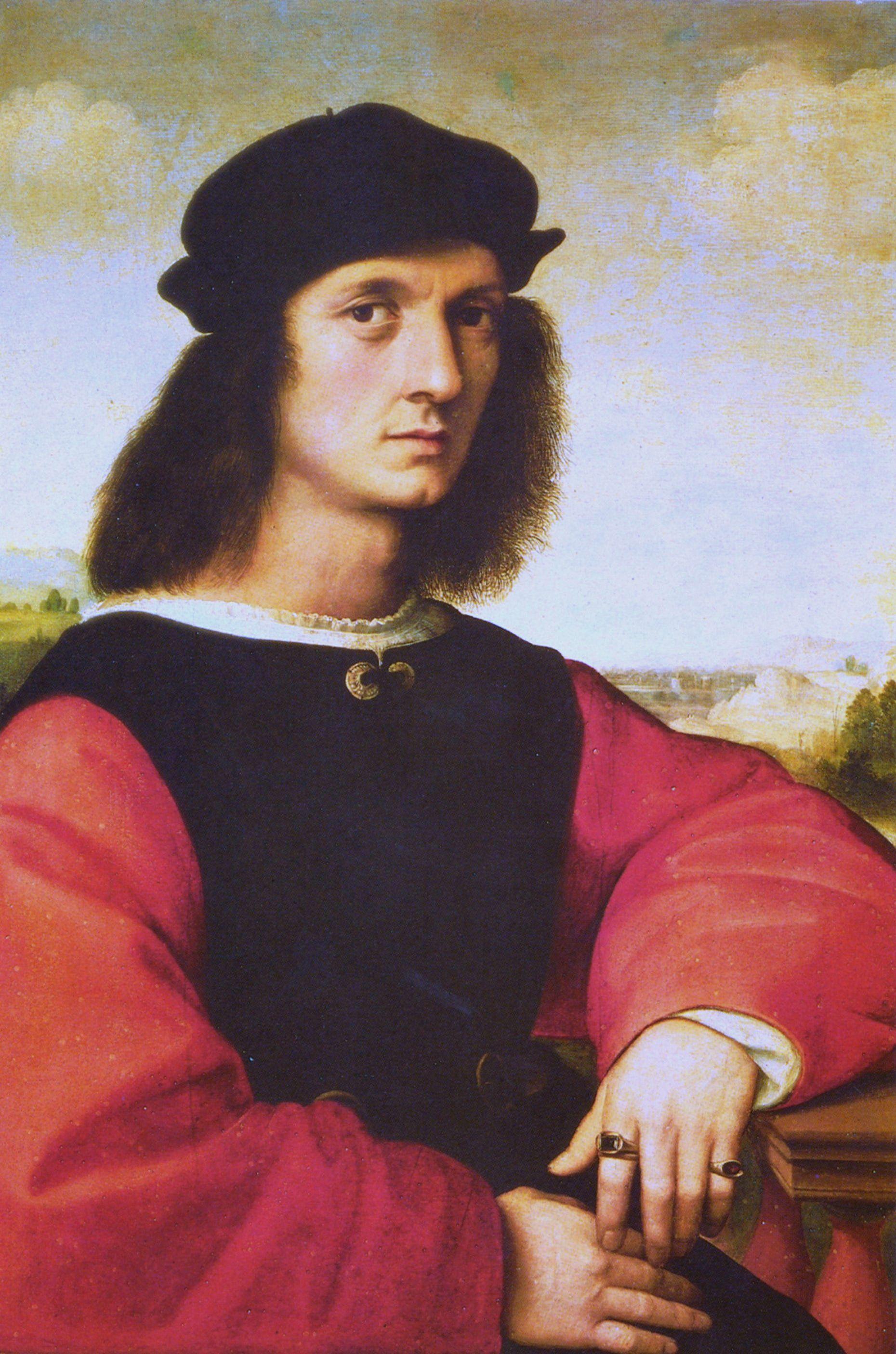 Raffael, Bildnis des Agnolo Doni (Portrait of Agnolo Doni)  Galleria Pitti, Florenz (Pitti Art Gallery, Florence)