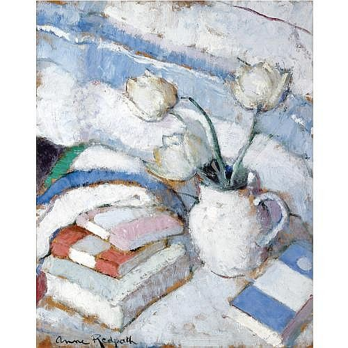 Anne Redpath, R.S.A., A.R.A. 1895-1965 , still life with whi