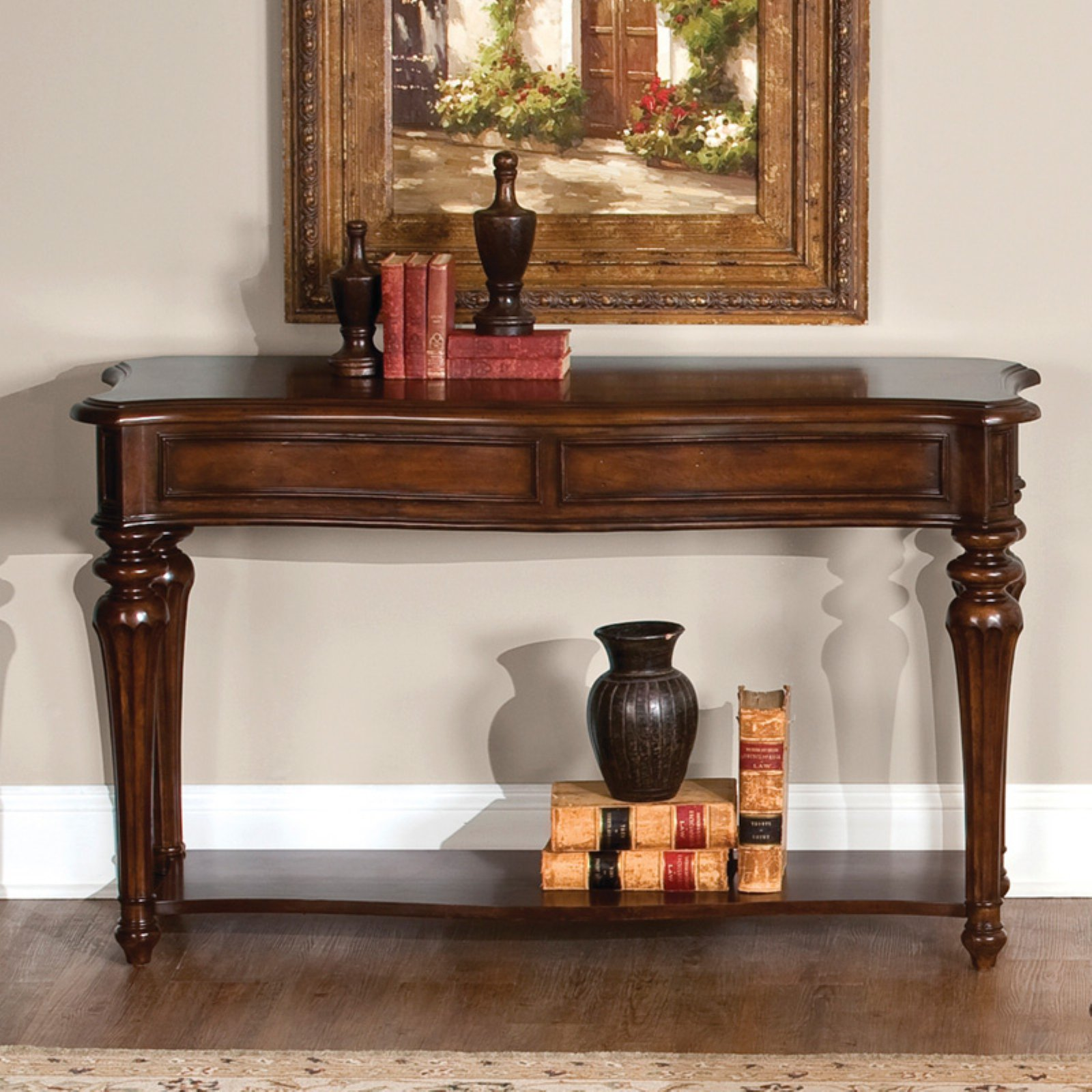 Andalusia Sofa Table Vintage Cherry In 2020 Liberty Furniture Traditional Sofa Foyer Furniture