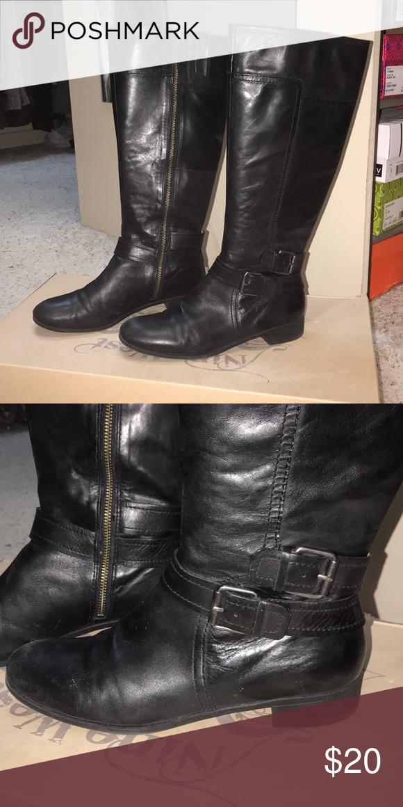 c3e5e5137afe Nine West black tall boots Gently worn tall black boots by Nine West Nine  West Shoes