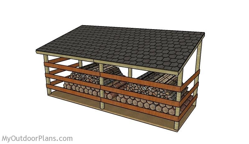 How To Build A 4 Cord Firewood Shed Woodworking Projects
