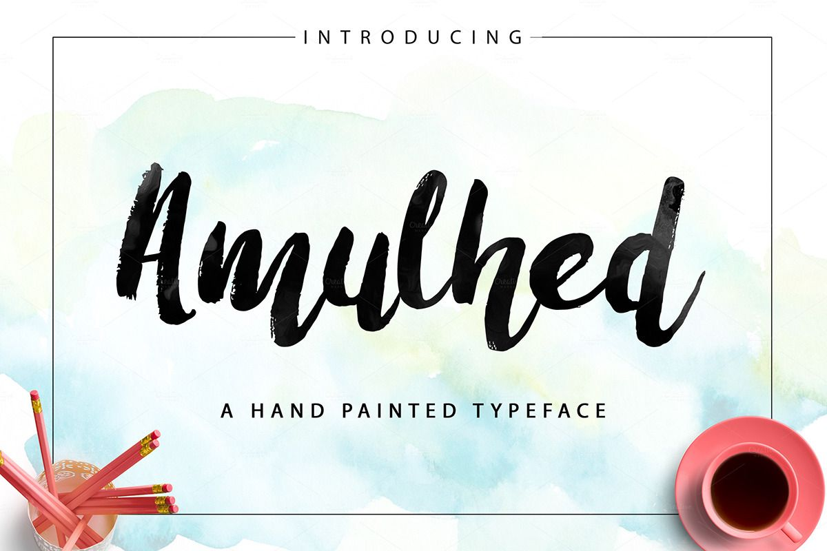 Amulhed Brush Free Hand Painted Font Creative Market Free
