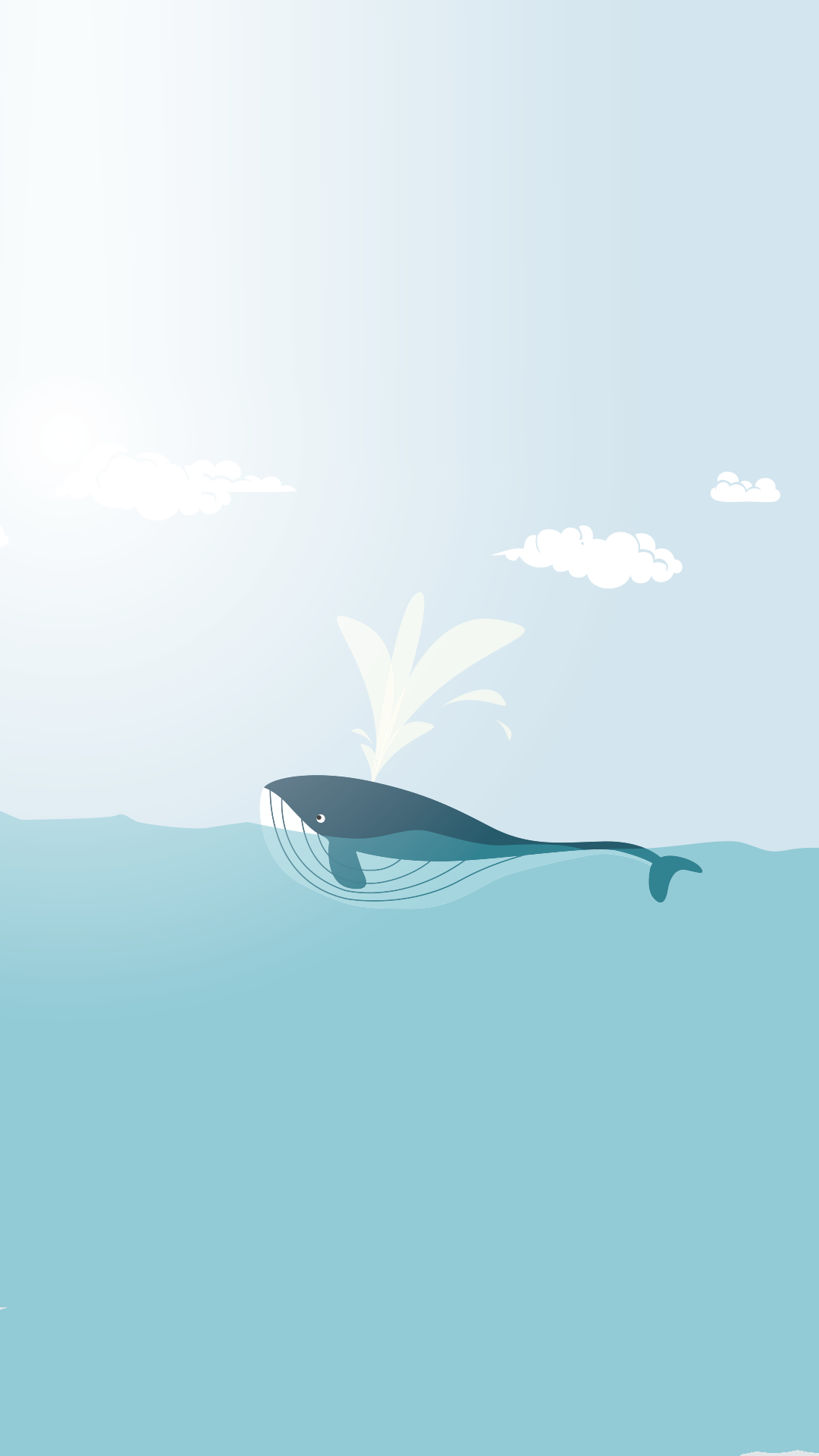 Minimal iPhone wallpapers Happy whale … Pinteres…