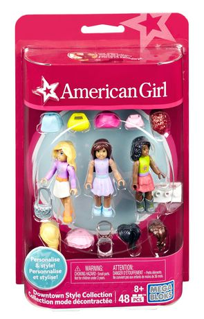 48 Pcs NEW!  Mega Construx American Girl ~ Sporty Style Collection Figure Set