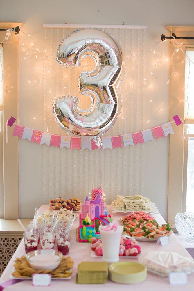 Carolines 3rd Birthday Princess Party