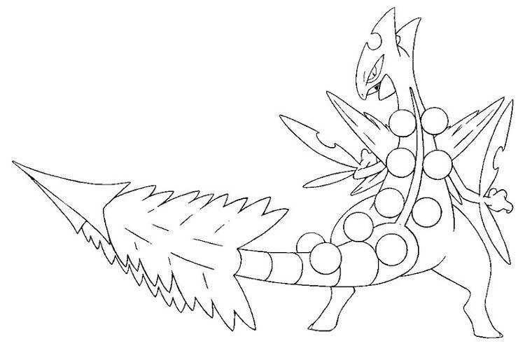 Pokemon Coloring Pages Sceptile Pokemon Desenho Pokemon Desenhos Para Colorir