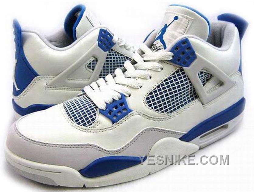 Nike Air Jordan 4 IV Retro Blanc Bleu, Price: $70.00 - Nike Shoes, Air  Jordan shoes