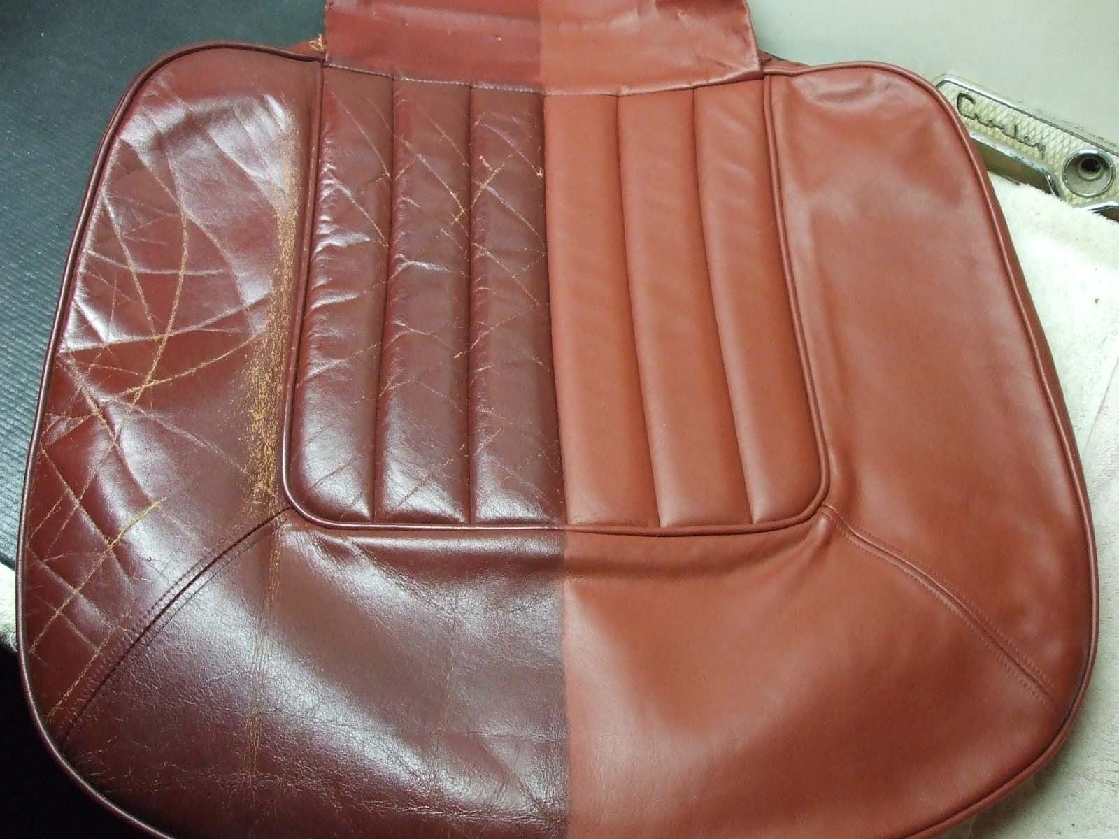Tufted Sofa Project to restore a classic rolls Royce interior leather seat using the leather touch up kit