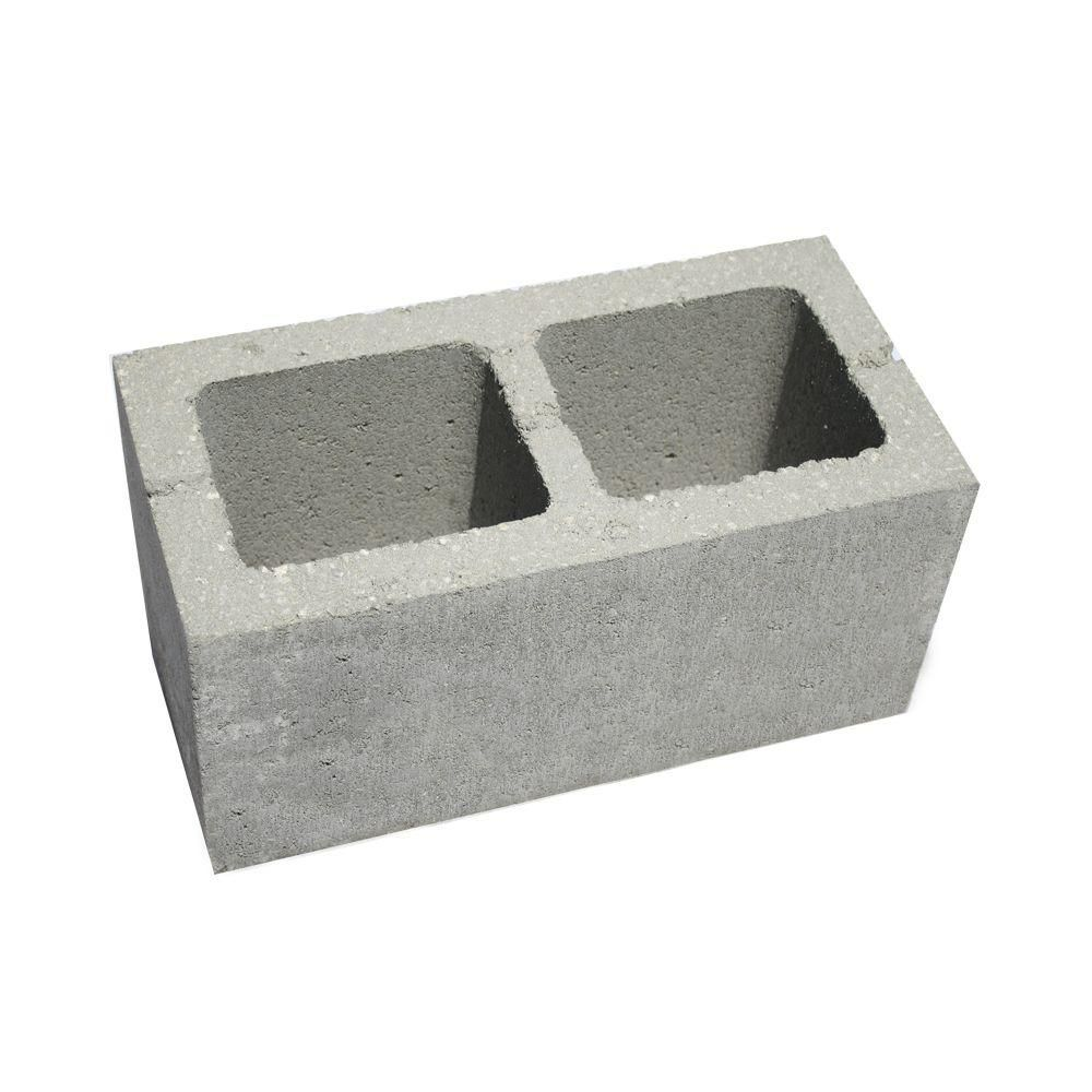 8 In X 8 In X 16 In Concrete Block 100825 The Home Depot Concrete Blocks Insulated Concrete Forms Decorative Concrete Blocks
