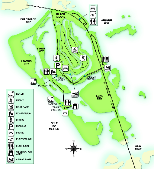 Map Of Florida State Parks.Map Of Florida State Parks Lovers Key State Park Map 12157