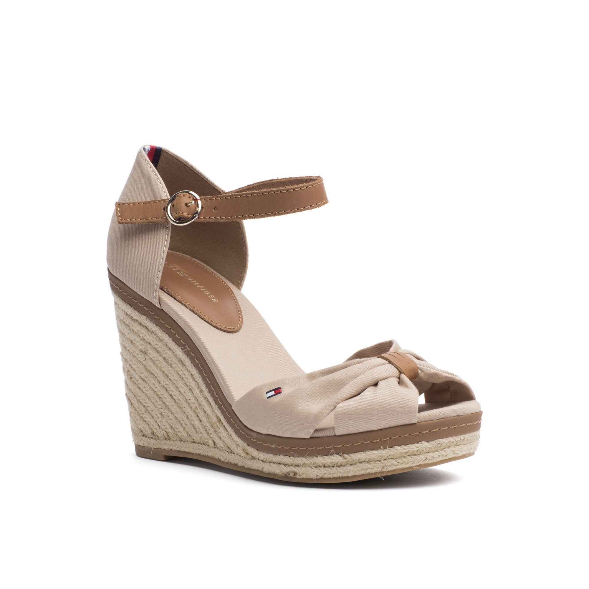 7a80b3f60942 TOMMY HILFIGER PEEP TOE ESPADRILLE WEDGE - DESERT SAND.  tommyhilfiger   shoes