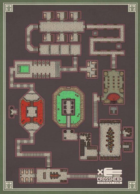 The arcane Prison dungeon : dndmaps | Game stuff in 2019 | Dungeon