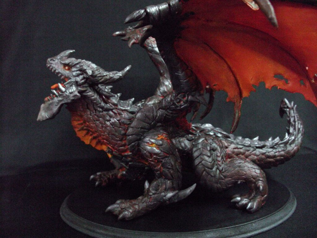 deathwing figurine by artsed clay pinterest acrylics