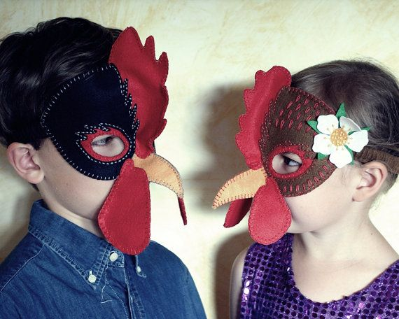 Hen and Rooster Mask PDF Pattern by oxeyedaisey on Etsy & Hen and Rooster Mask PDF Pattern | Pinterest | Hens Masking and Pdf