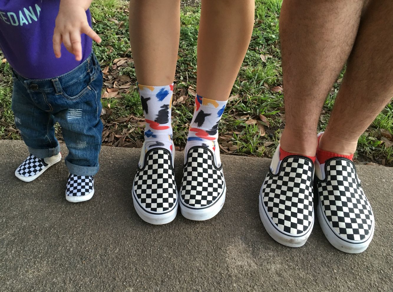 Matching dad, mom, and baby Vans! | Little baby | Baby vans