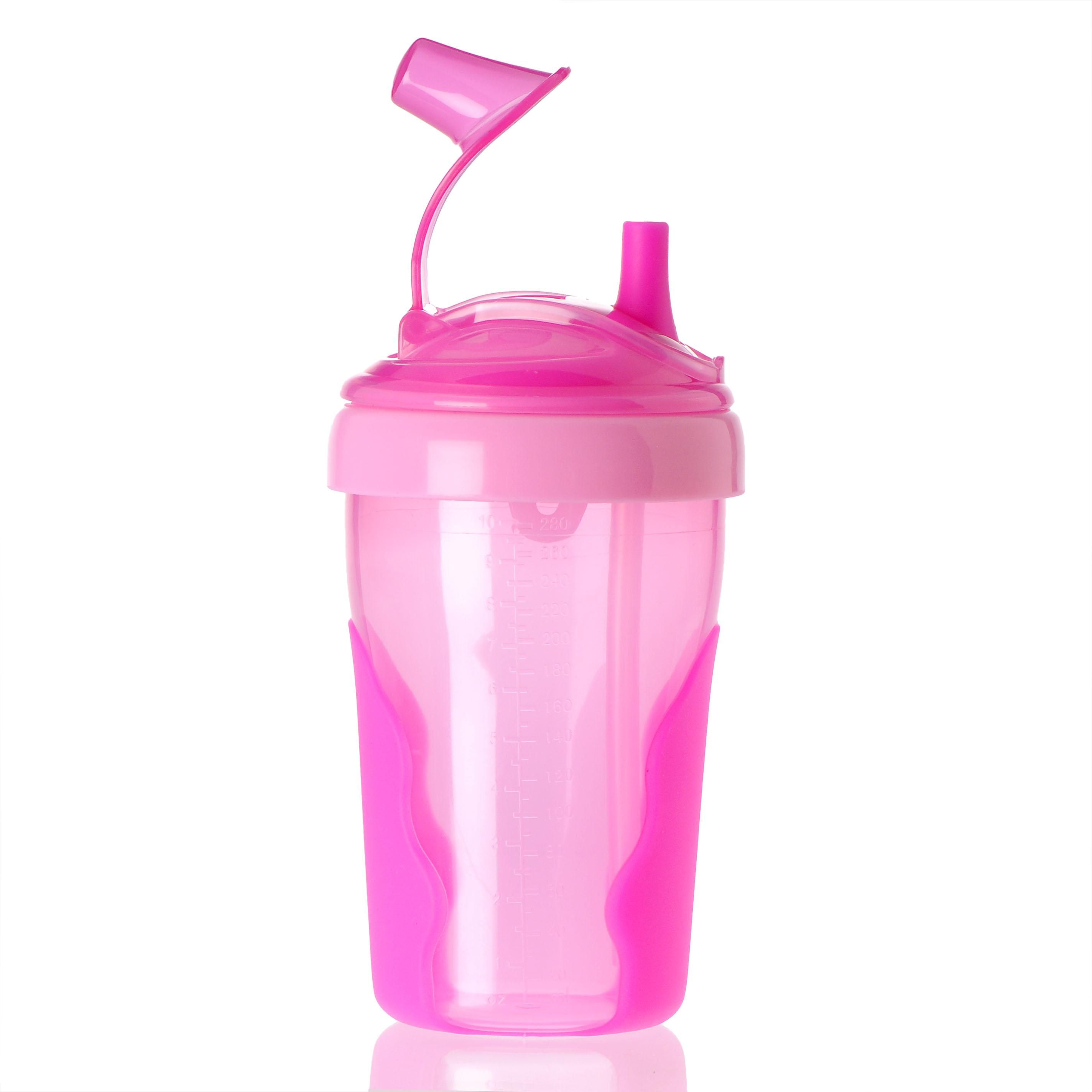 Toddler Straw Cup side PINK Cup with straw, Cool baby