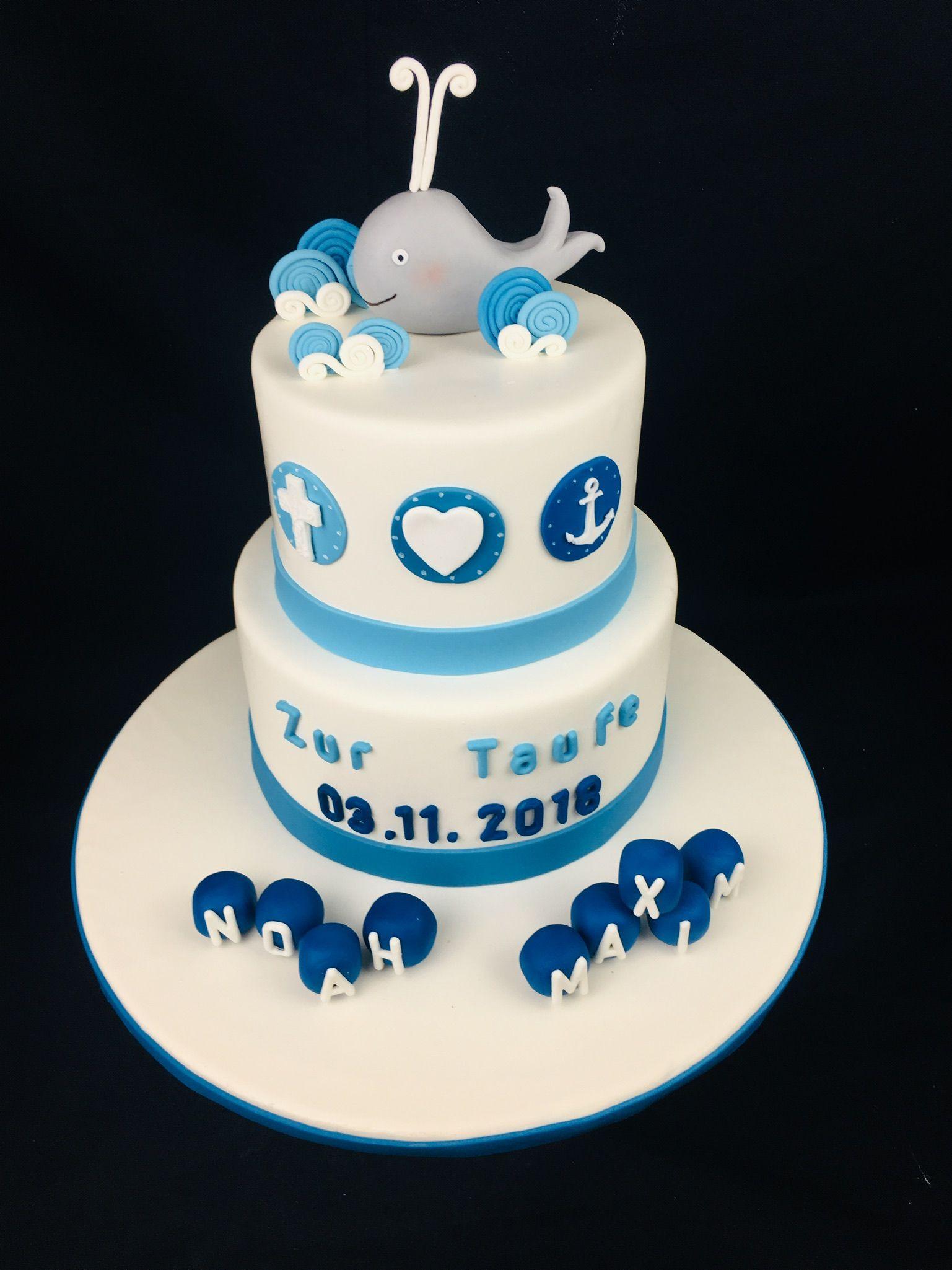 Tauf Torte Für Jungen Maritime Torte Torte Zur Taufe Torte