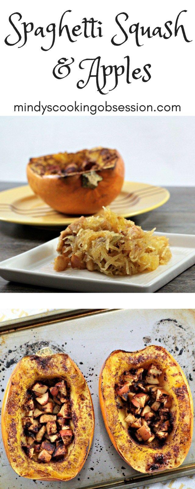 Spaghetti Squash & Apples #spagettisquashrecipes