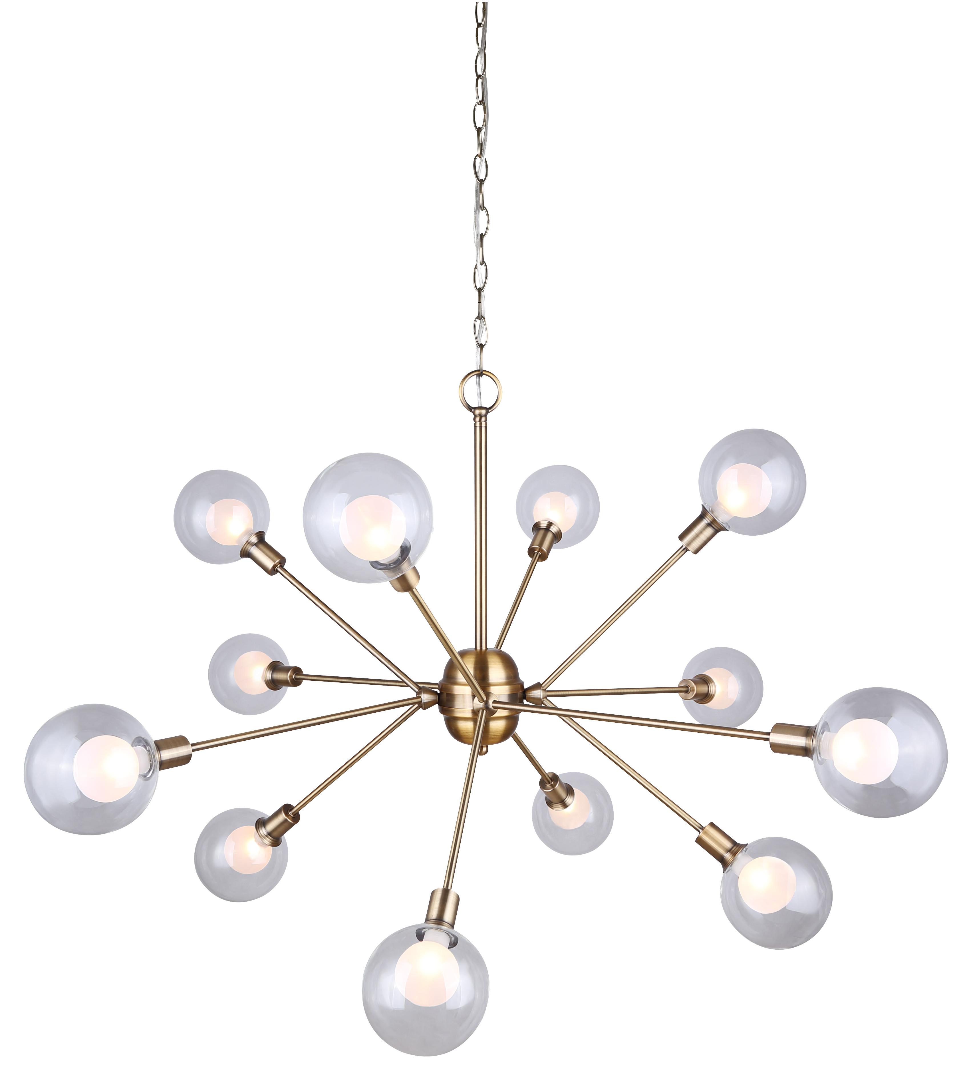 Estella Collection 12 Light Chandelier In Gold Ich683a12gd9