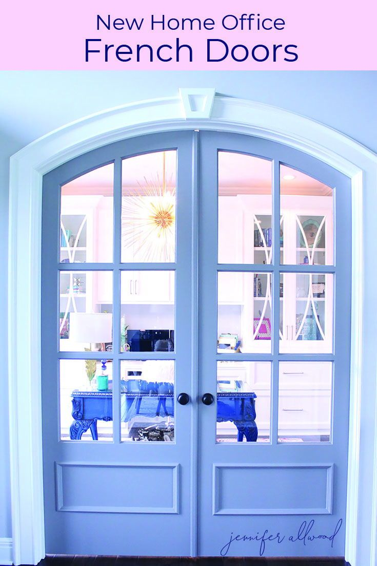 Info's : New French Doors for Home Office! From Dark and Dingy to a Bright and Feminine Home Office Makeover by Jennifer Allwood / Magic Brush Inc. #doors #frenchdoors #makeover #roommakeover #homedecor #decorating #decoratingideas #office #homeoffice #officedecor