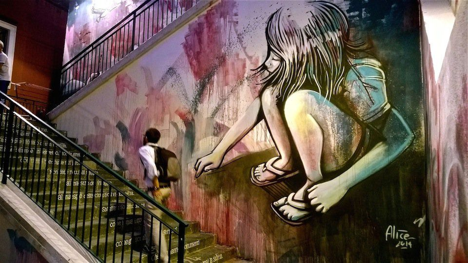 Street Art by Alice Pasquini in Salerno, Italy 5