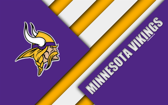 Download wallpapers Minnesota Vikings, NFC North, 4k, logo