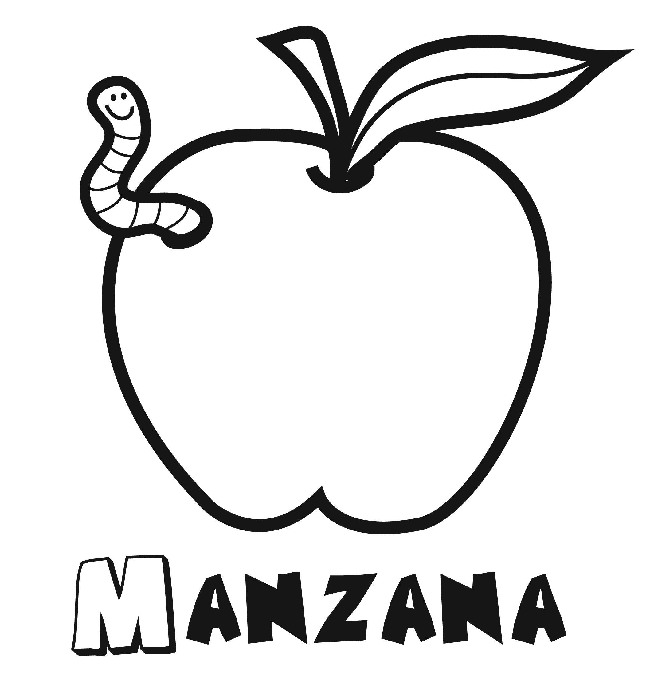 manzana-para-colorear-3.jpg (2129×2208) | Teaching | Pinterest