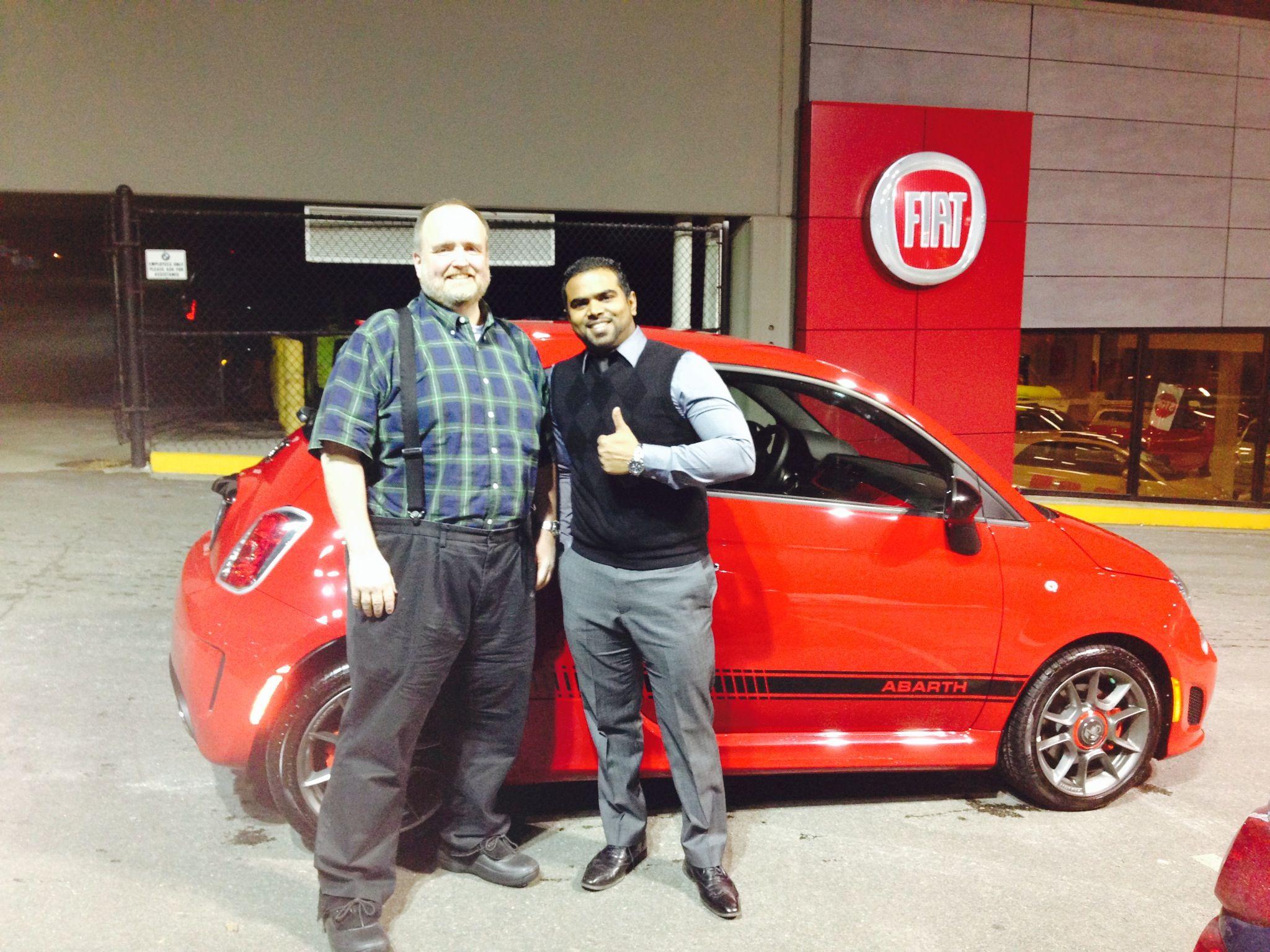 Happy my car Monday the this gentleman and his new Fiat Abarth, buona fortuna! #mycarmonday #mncm #Fiat #Abarth #cinquecento #RosenthalAuto