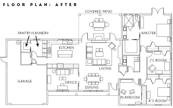 before and after, renovation project, home remodel, floor plan, house  redesign,