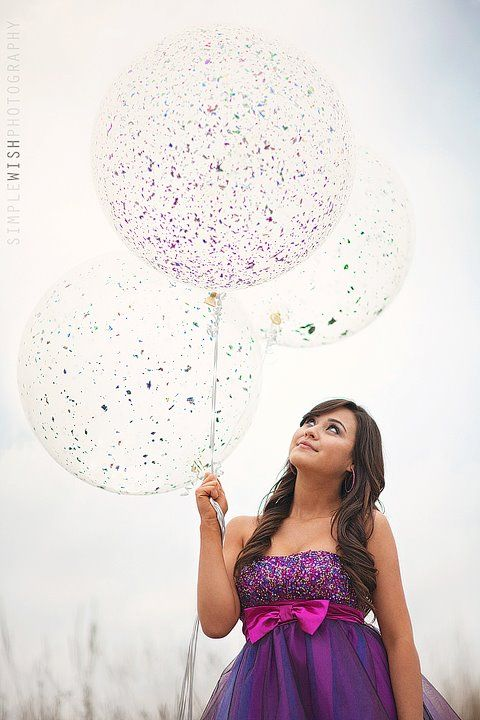 Huge CLEAR balloons. Simple Wish Photography