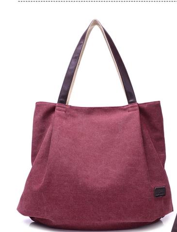 1de1786c32 Fashion Plain Canvas Tote Bags For Women - Beige Black Sky Blue Brown