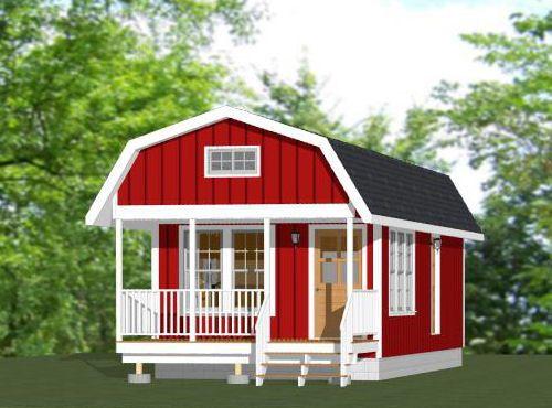 14x32 Tiny House 14x32h13a 646 Sq Ft 14x Houses