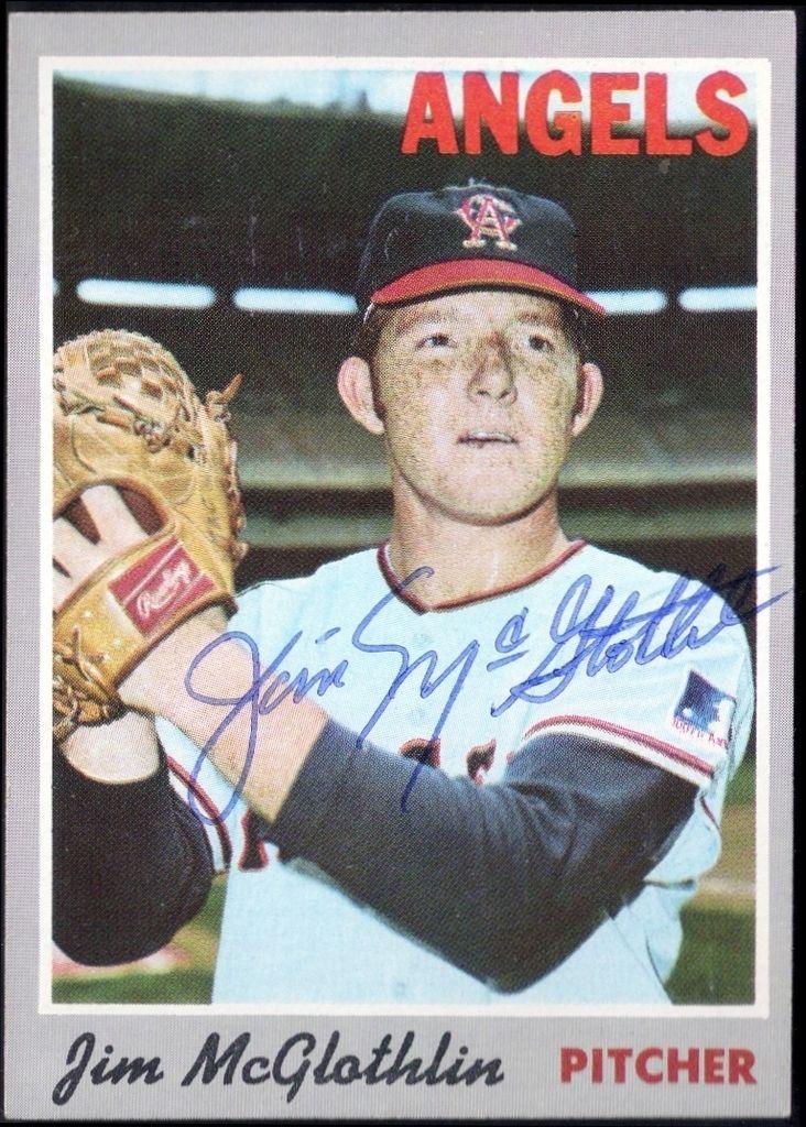 1970 topps jim mcglothlin autograph baseball cards
