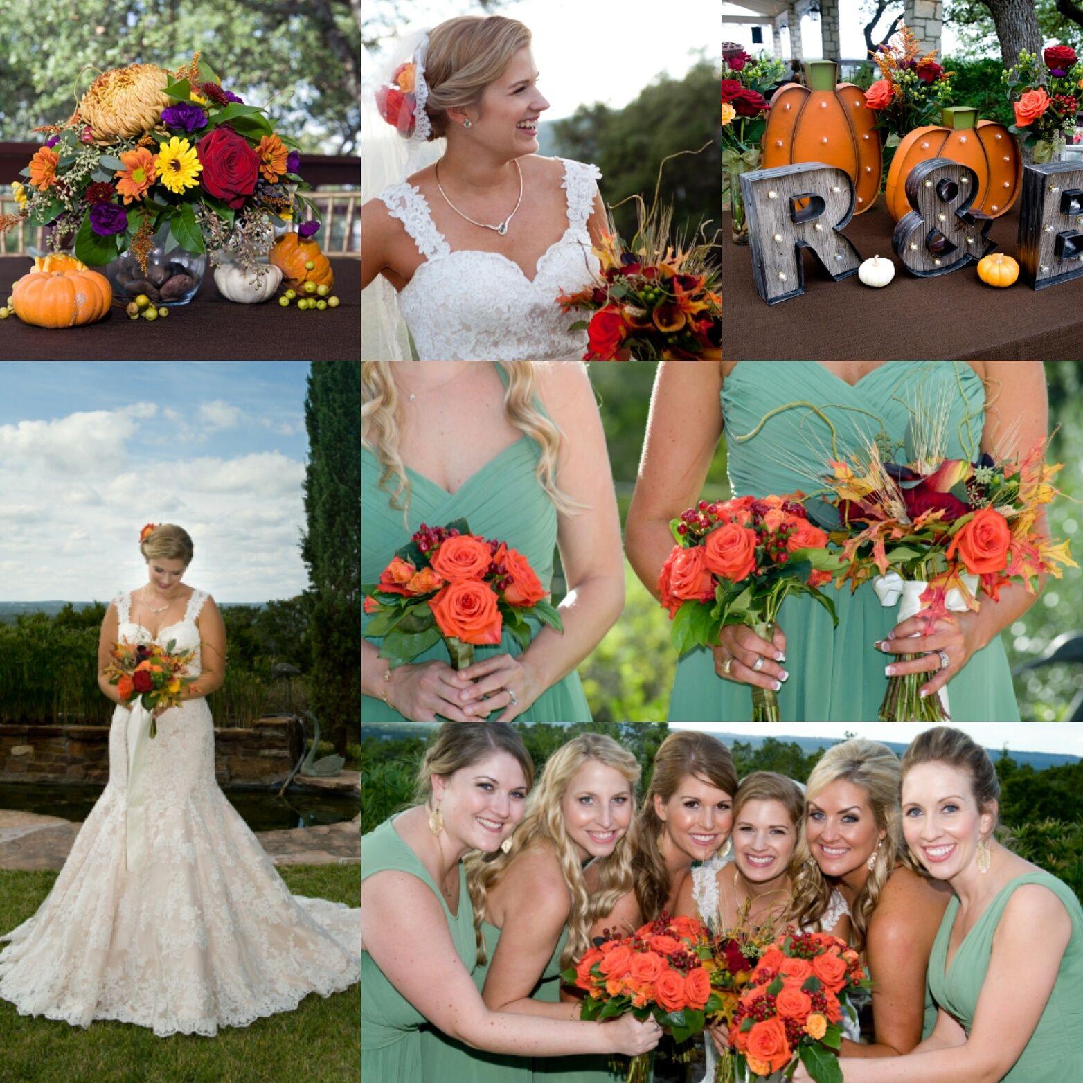 Fall wedding floral by Austin TX Wedding Florist Gilded