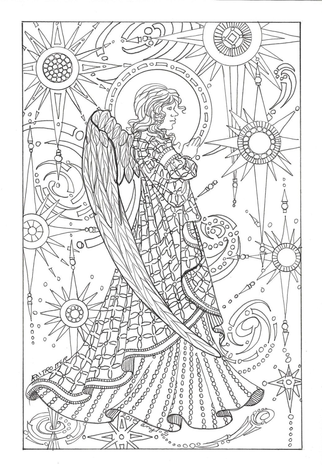 Pin On Angels Coloring Pages For Adults