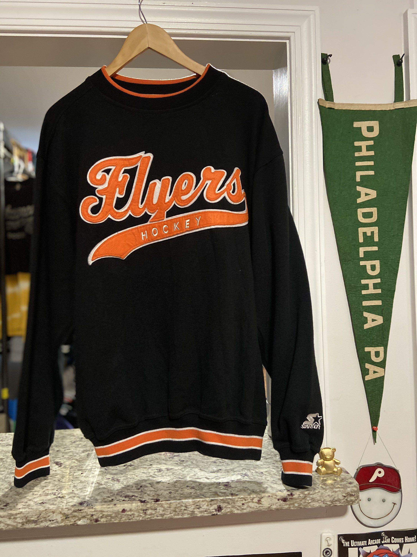 Excited To Share This Item From My Etsy Shop Rare Vintage Mens Medium Black Philadelphia Flyers Starter Scri Crew Neck Sweatshirt Sweatshirts Vintage Outfits [ 3000 x 2250 Pixel ]