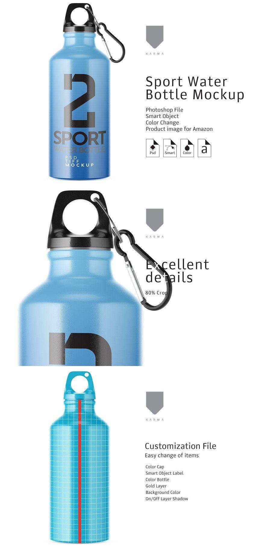 Download Sport Water Bottle Mockup In 2020 Water Bottle Bottle Mockup Sport Water Bottle
